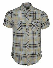 Mens Ed Hardy Check Shirt Size Small Short Sleeve