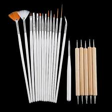 20pcs Outils Pinceaux à Ongle pour Déco Gel UV Verni Nail Art Manucure Pédicure