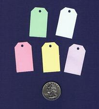 100 Small Blank Handmade Gift Hang Tags - Pastels - Price Cardstock Easter