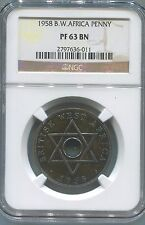 British West Africa Penny 1958 Ngc Pf63Bn