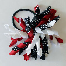 Corker hair bow on elastic band