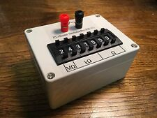 Seven decade resistor substitution box 0.1% 0 ohm to 9.999999 Mohm