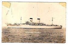 USS GENERAL GEORGE RANDALL RPPC Real Photo Postcard MILITARY Ship AP-115 Pope