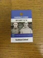 26/11/2013 BIGLIETTO: Portsmouth V Southend Unito [ chairmans Lounge VIP GUEST PASS