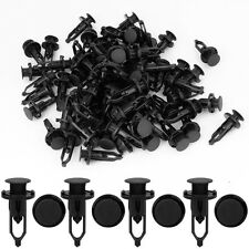 100 x Car Door Fender Clips 9mm Black Plastic Rivets Fastener for Toyota