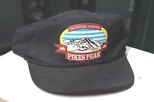 Pikes Peak Colorado Vintage Snapback Hat Cap One Size Mens Rocky Mountain. BLACK