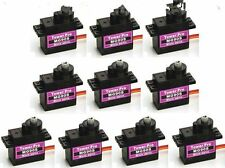 10Pcs MG90S Micro Metal Gear 9g Servo for RC Helicopter Airplane Boat Car
