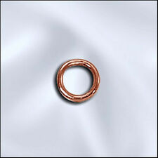 ONE HUNDRED Beadsmith 5mm CLOSED (soldered) Copper Jump Rings 100