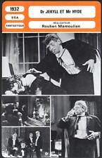 DR JEKYLL ET MR HYDE - March,Hopkins,Mamoulian (Fiche Cinéma) 1932