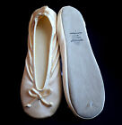 Isotoner Women's Stretch Satin Ballet Style Slippers Cream Size S M L XL 2XL NEW