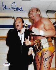 Hulk Hogan & Mean Gene Okerlund Signed WWE 8x10 Photo PSA/DNA COA Auto'd Picture