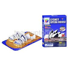 Cardboard 3D Puzzle Sydney Opera House Jigsaw Cool Hobbies Kid Adult Toy New