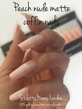SALE 360 Pieces Manufactured peach nude matte coffin ballerina False Nail Sets