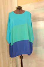 Blugirl Blumarine Turquoise/Green/Blue Knit Top Sweater Size 40 Made in Italy