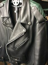Vintage Schott Perfecto Size 3XL Black/Green Leather Biker Jacket
