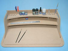 Large Model Hobby Desk Paint Station Tray, Wargaming Model Making 60x40cm