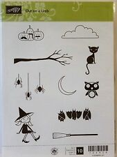 Stampin Up OUT ON A LIMB stamps Halloween witch cat branch bat owl spider