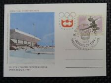 AUSTRIA MK 1964 OLYMPIA OLYMPICS EISKUNSTLAUF MAXIMUMKARTE MAXIMUM CARD MC 8547