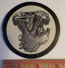 Vintage Harley Knucklehead leather patch collectible old motorcycle motor emblem