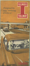 1959 Illinois Tollway Brochure and Map / Nice Cover Graphics !!
