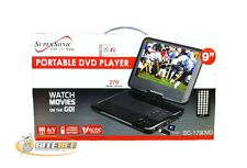 "SuperSonic SC-179DVD 9"" Portable DVD Player with USB/SD In/3.5mm Headphone Jack"
