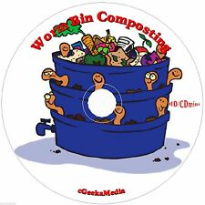How to Build & Use a Worm Composting Bin System 3 Books & Guides w/ Plans on CD