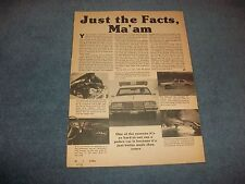 """1978 Pontiac Catalina Police Car Package Vintage Info Article """"Just the Facts..."""