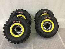 Hiper Tech 3 Beadlock Wheels CST Pulse Tires Front/Rear Kit Suzuki LTR450 LTZ400