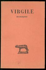 DE SAINT DENIS E. VIRGILE BUCOLIQUES LES BELLES LETTRES 1963 CLASSICI LATINI