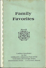 *LOVES PARK IL 1983 VFW VETERANS OF FOREIGN WARS AUXILIARY COOK BOOK *ILLINOIS