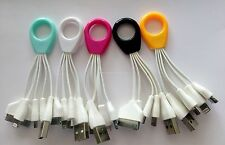 4 in 1 USB Sincronizzazione Dati Cavo Caricabatteria Per iPhone Samsung Nokia HTC Key Chain ring