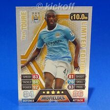Match Attax Extra 13-14: Yaya TOURE- GOLD Limited Edition. Man City. LE1. 2014