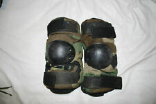 Used Elbow Pads, Military Army Woods Camo, Size Med, Made in USA