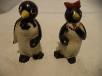 1950 VINTAGE  WILLIE & MILLIE PENGUIN SALT AND PEPPER SHAKERS CUTE & ADORABLE