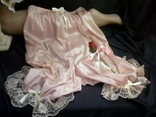 VTG SISSY CARAMEL NYLON LACY PANTIES BLOOMERS DIRECTOIRE KNICKERS SATIN BOWS