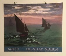 FINE ART LITHOGRAPH: Leaving The Harbor By Monet 30 X 25