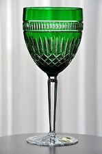 Waterford Emerald Green Cut to Clear Crystal Clarendon Serenity Goblet New B