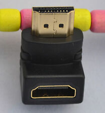 90 Degree HDMI Male to HDMI Female Right Angle Adapter Converter Gold Plated