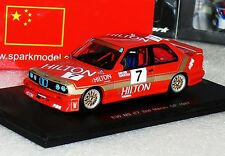BMW M3 E30 #7 2ND MACAU GP 1987 D. QUESTER SPARK LIM. SA033 1:43