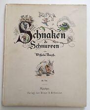 Struwwelpetriade. - Busch, Wilhelm. Schnaken & Schnurren. 1903
