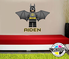 Personalized Lego Batman Wall Decal (Removable and Replaceable)