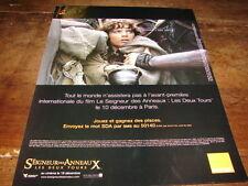 LE SEIGNEUR DES ANNEAUX - PUBLICIE ORANGE !!!!!!!!!!!!!