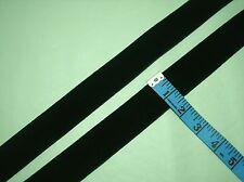 """5 yards - 1 1/2"""" Wide Forest Green Crush Resistant Velvet Ribbon"""