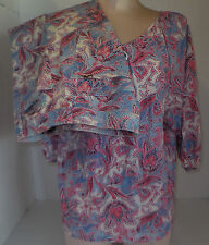 RALPH LAUREN Women's Blouse Top & Pants Suit Set Paisley Flower Sz Medium 10/28