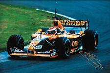 "JOHNNY HERBERT firmato 12x8 F1 arrows-asiatech A22 1991 GP STAGIONE ""prova"" driver"