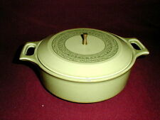 Taylor Smith Taylor China Green OASIS Casserole w Lid Retro