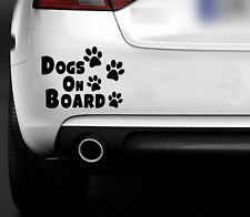 Dogs On Board  Car Bumper Window Sticker Decal  CAR 4X4 VAN Animal lovers puppy