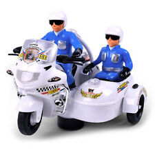 Electric Police Motorcycle with Flashing LED Light Kids Children Music Toy Gift