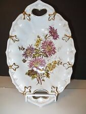 BOWL, Hand Painted, Pierced Handle, C. TIELSCH, GERMANY, 1875 - 1900, Good Cond.