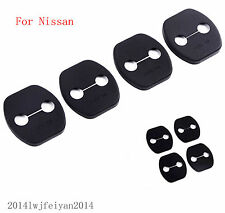 4 Pcs Car Door Lock Buckle Protective Cover Protector Pad For 2008-2015 Nissan